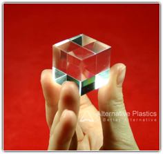 Clear plastic block
