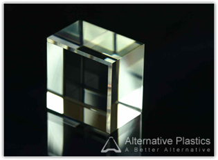 Perfectly polished block with chamfered edge