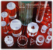 A selection of clear acrylic profiles