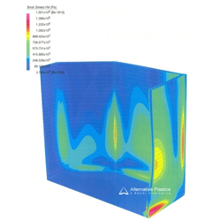 Alternative Plastics can offer technical advice which includes FEA Finite Element Analysis