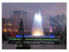 Acrylic Fountain Opens in Sheffield